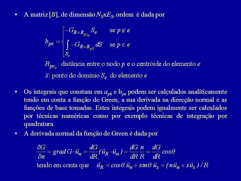 A matriz [B], de dimensão NSxES, ordem é dada por